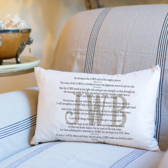 Scripture for Strength - Boudoir Pillow