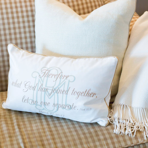 Mark 10:9 - Boudoir Pillow