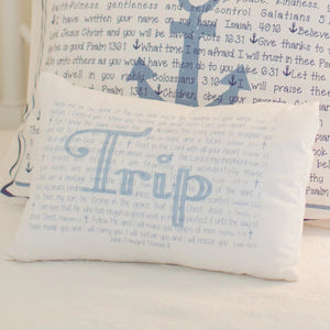 Scripture for Baby Boys (Apple of Thy Eye) - Boudoir Pillow