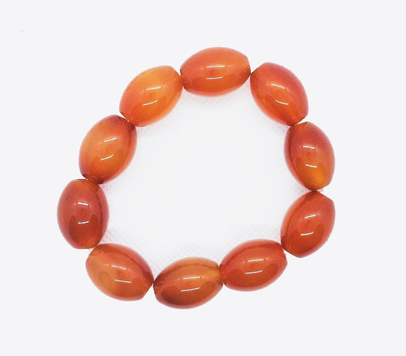 Orange glass bead bracelet