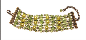 Lime Green, Seven Strand Grecian-styled bracelet