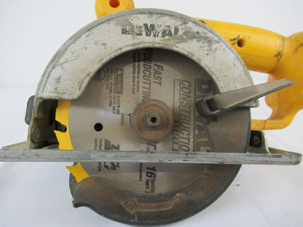 "Vintage DEWALT DW930 Cordless 5 3/8"" (136mm) Circular Trim Saw 12v"