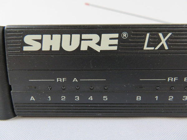 2 Shure Brothers Model LX4-W, LX4-CE Wireless Microphone System Receiver W/ Adap