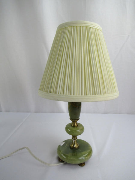 Vintage Bell Lamp Shade with Harp Pleated Cone Creame Fabric Ceramic Base