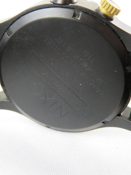 Nixon 300 Meter Simplifi The 51-30 Stainless Steel Swiss Movement 11D Watch Blac
