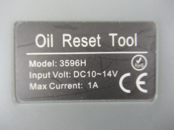 OTC 3596H Oil Light Reset Tool Kit Input Volt DC10-14V  AS IS