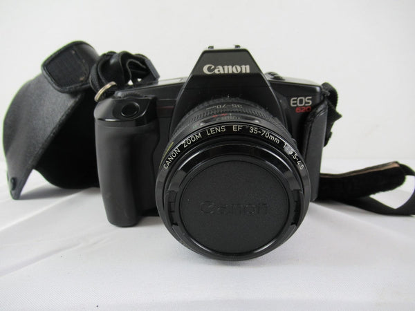 Canon EOS 620 35mm SLR Film Camera Zoom Lens EF 35-70mm 1:3.5- 4.5 W/ Case
