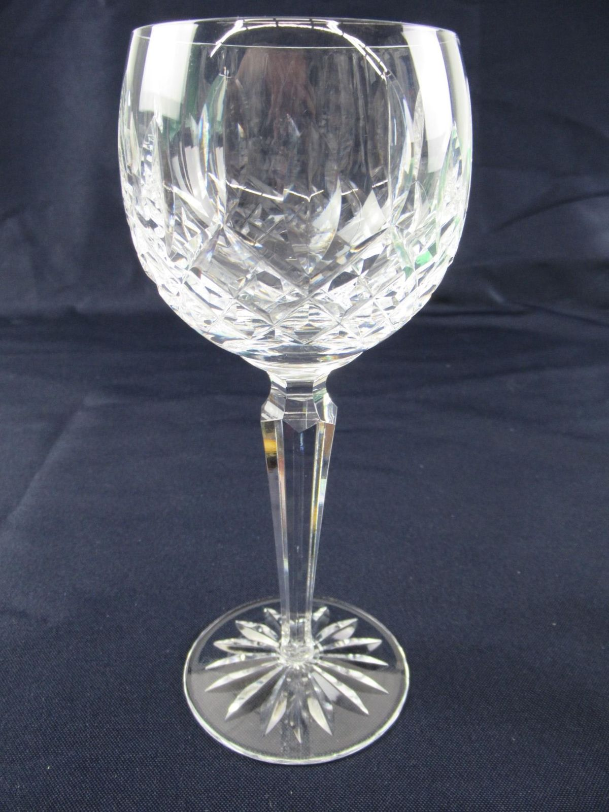 "Waterford Crystal Lismore Hock Wine Glass 7 1/4"" Sold Individual"