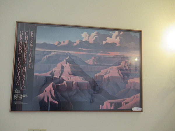 Ed Mell Poster Grand Canyon Chamber Music Festival The Eight Season Art 36x24 wi