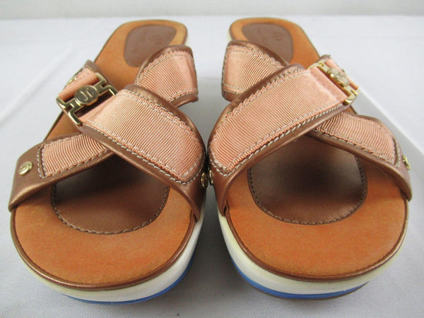 Cole Haan G Series NikeAir Cross Strap Wedge Sandals Women Size 6 B