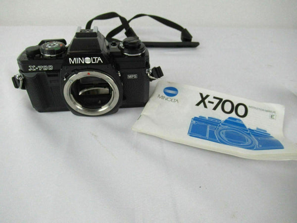 Minolta X-700 MPS 35mm Manual Film Camera Body with Manual AS IS