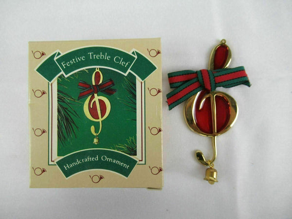 Hallmark Festive Treble Clef Handcrafted Ornaments Christmas Medley 1986 QX513-3