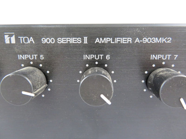 TOA Model A-903mk2 900 Series II 60 Watt 8 Input Mixer Power Amplifier