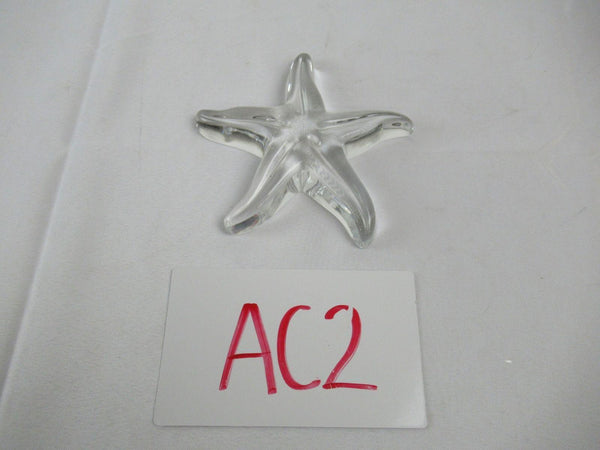 Baccarat Crystal Starfish Signed Paperweight Figurine Vintage
