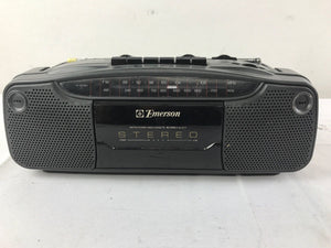 Emerson Mini Boombox AM/FM Stereo Radio Cassette Recorder Model AC2411T GF