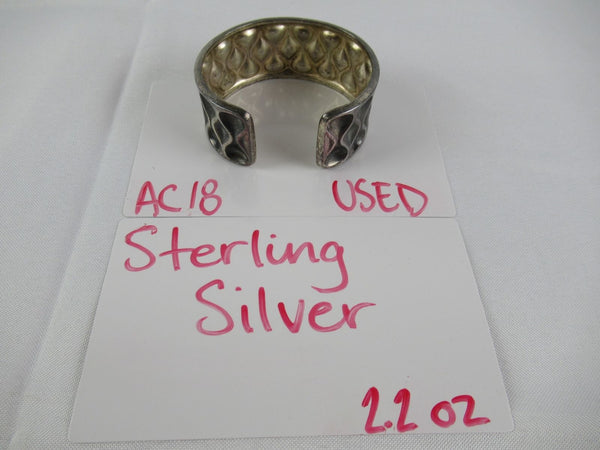 Vintage Sterling Silver Women's Bracelet / Bangle 2.2.oz