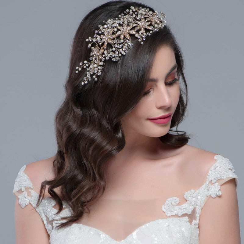 Alyssa Enchanting Silver Wedding Headpiece