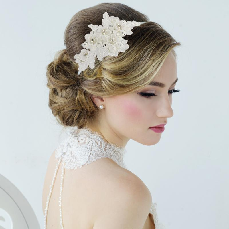 Arlene Vintage Inspired Floral Wedding Headband