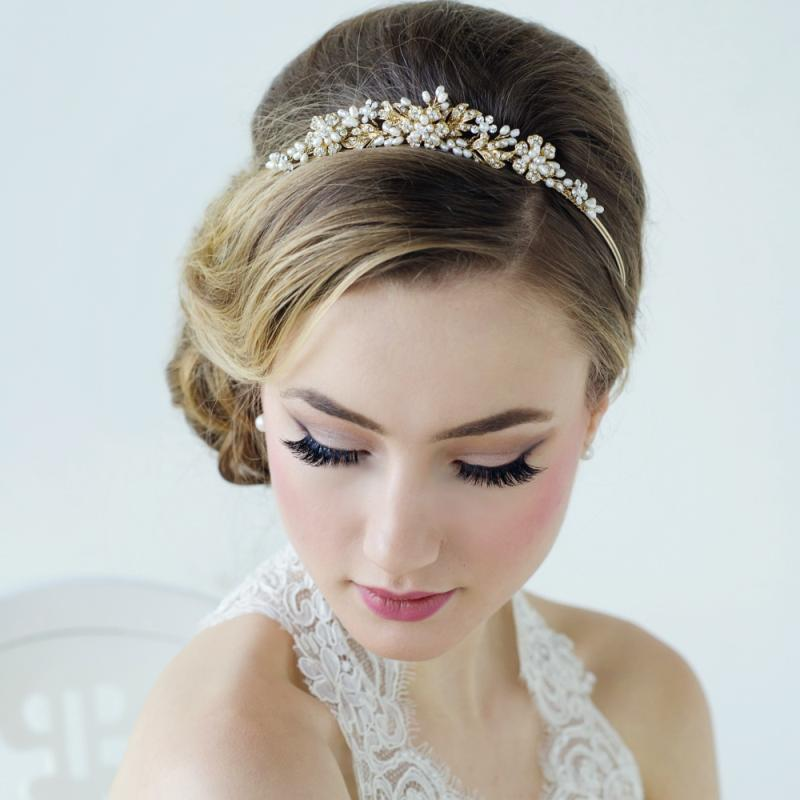 Bethany Crystal Luxe Bridal Tiara In Gold