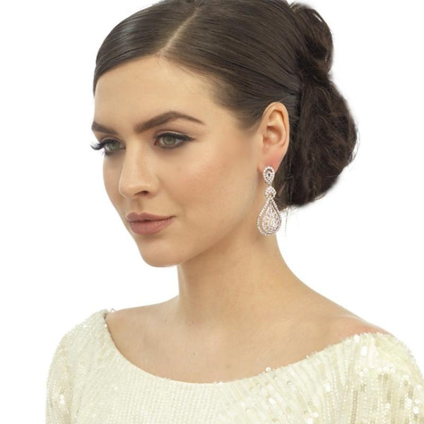 Bejewelled Art Deco Bridal Earrings