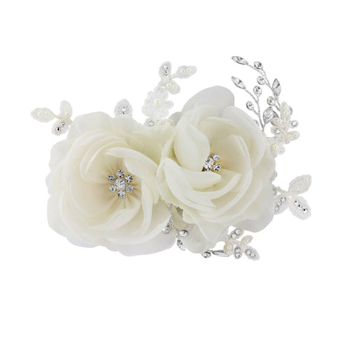 Blossom Floral Silver Headpiece