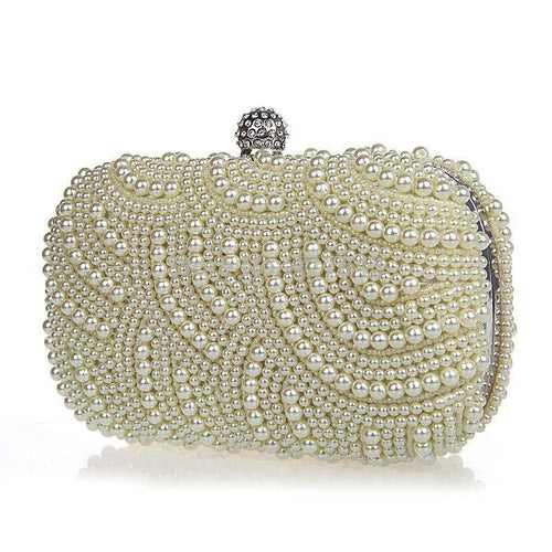 Classic Cream Pearl Clutch Bag