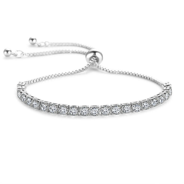 Crystal Sparkle Silver Wedding Bracelet