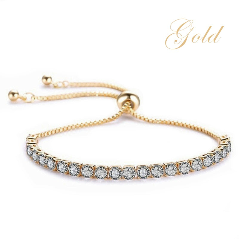 Crystal Sparkle Gold Wedding Bracelet