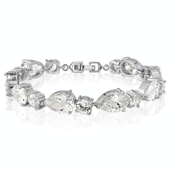 Classic Crystal Bridal Bracelet In Silver