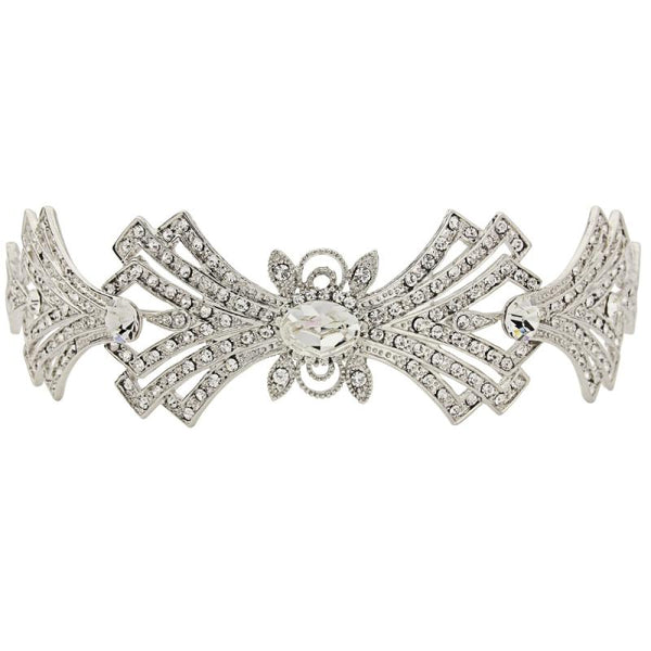 Crystal Embellished Art Deco Bridal Tiara