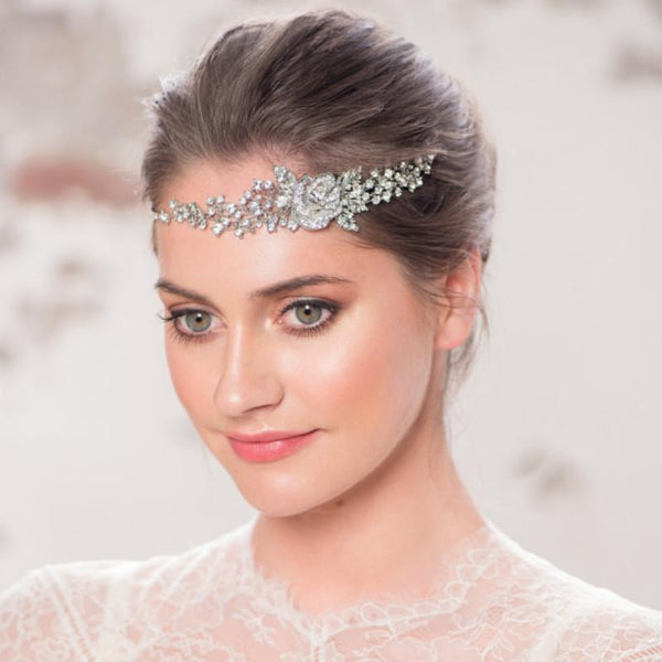 Crystal Rose Bridal Headpiece