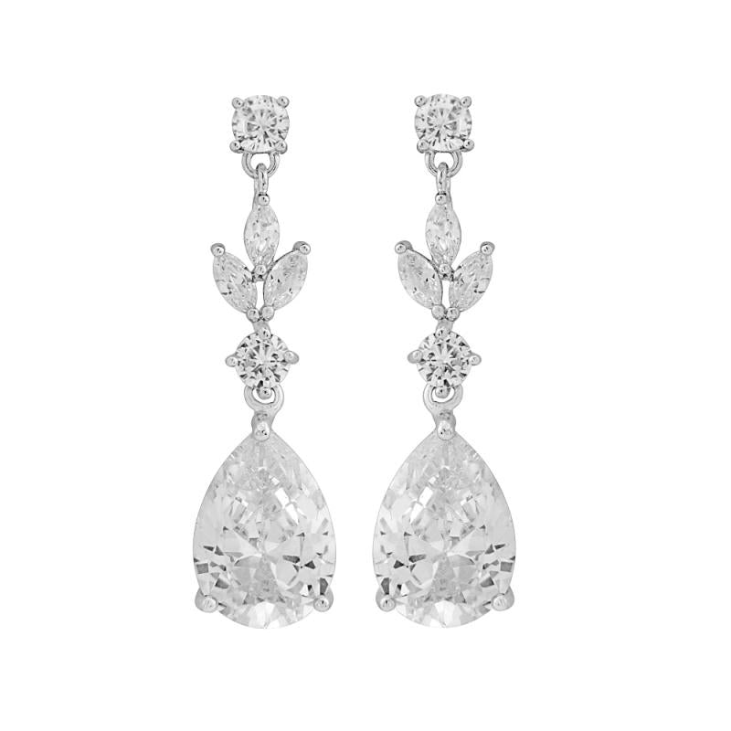 Crystal Sparkle Bridal Necklace & Earrings Set