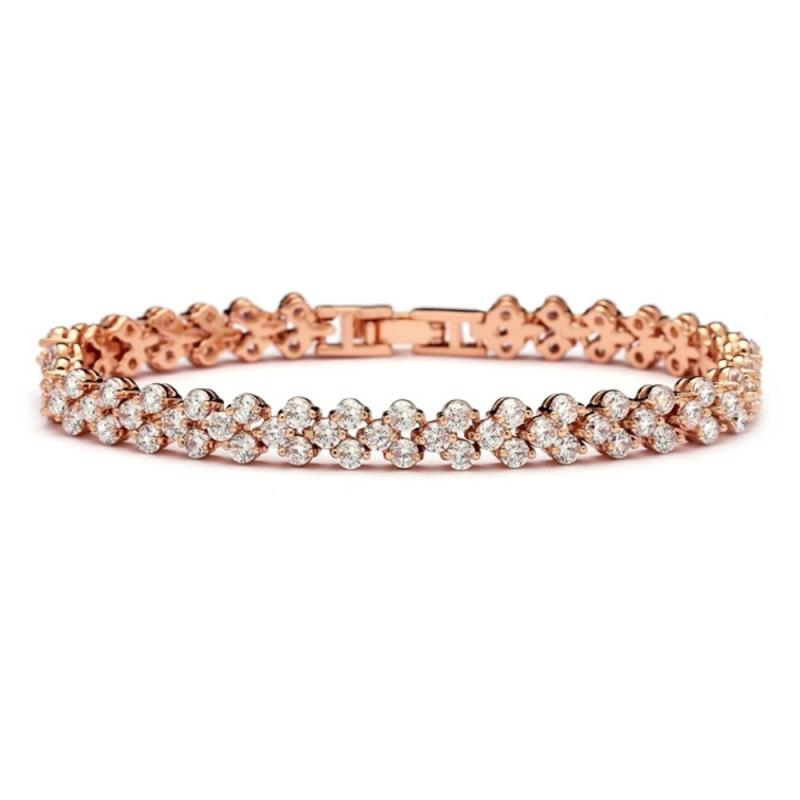 Crystallure Bridal Bracelet In Rose Gold