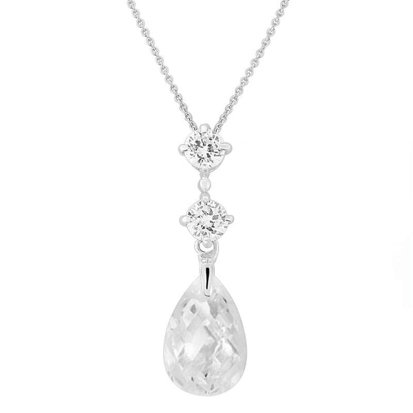 Austrian Crystal Drop Bridal Necklace