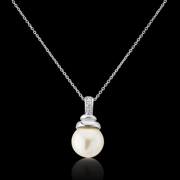 Sophia Ivory Pearl Drop Wedding Necklace