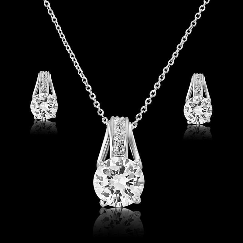 Crystal Grace Necklace & Earrings Set