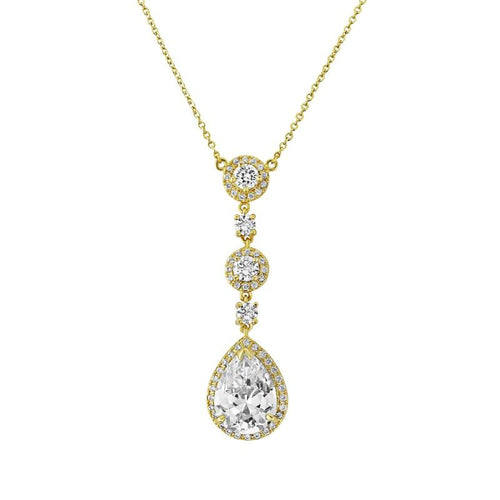 Eternally Crystal Necklace In Gold