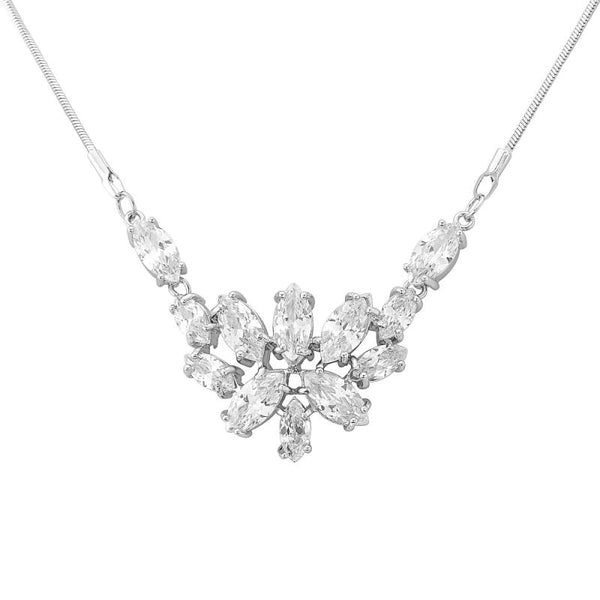 Pretty Chic Cubic Zirconia Bridal Necklace