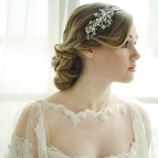 Darcey Bridal Headband In Silver