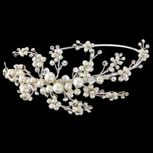 Load image into Gallery viewer, Darcey Bridal Headband In Silver