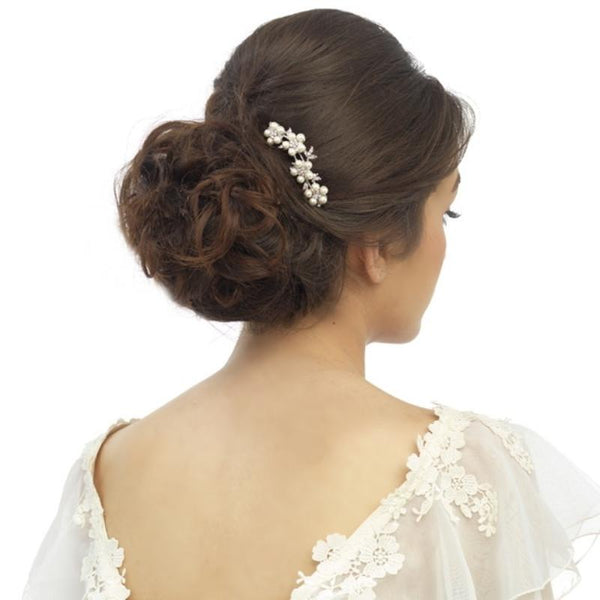 Crystal & Pearl Daisy Hair Pin Elite Collection