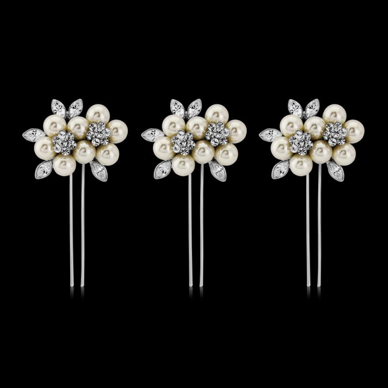 Luxe Ivory Pearl Hair Pins