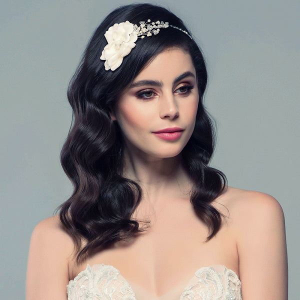 Elsie Large Flower Wedding Headband