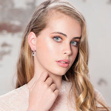 Load image into Gallery viewer, Exquisite Infinity Rose Gold Necklace & Earrings Set