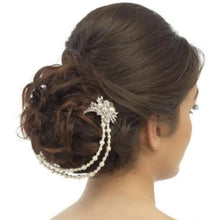 Load image into Gallery viewer, Enchanting Bridal Crystal & Pearl Headpiece