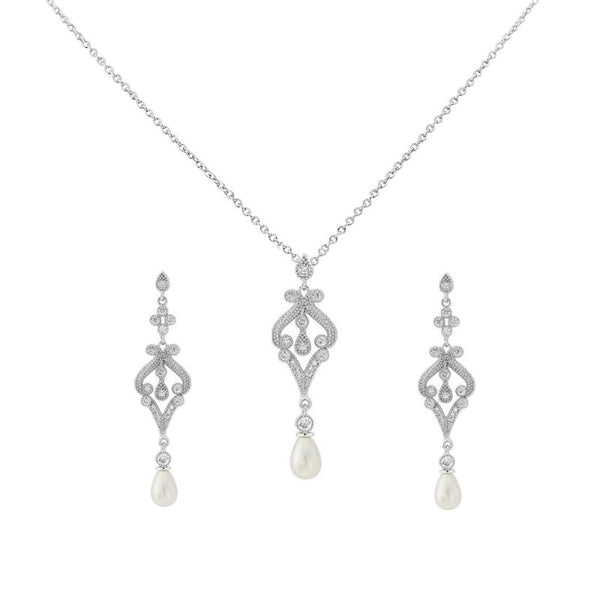 Enchanting Bridal Necklace & Earring Set