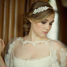 Load image into Gallery viewer, Evelyn Pearl Bridal Headband