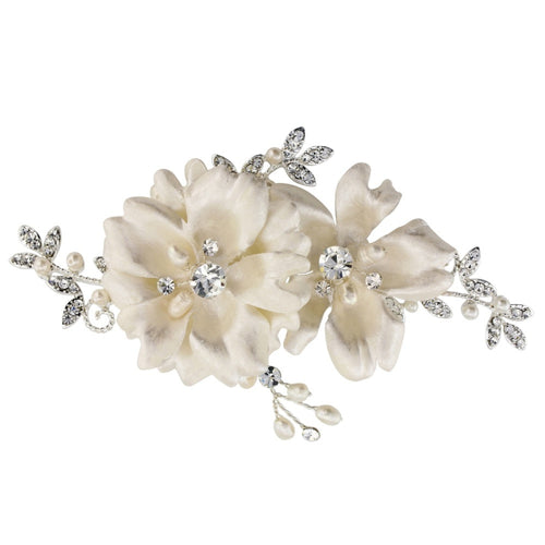Faye Vintage Inspired Silver Wedding Headpiece