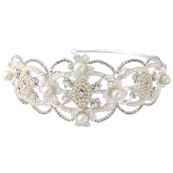 Harriet Gatsby Luxe Bridal Headband In Silver