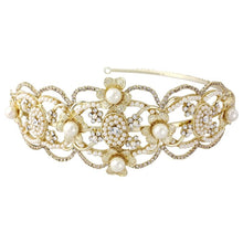 Load image into Gallery viewer, Harriet Gatsby Luxe Bridal Headband In Gold
